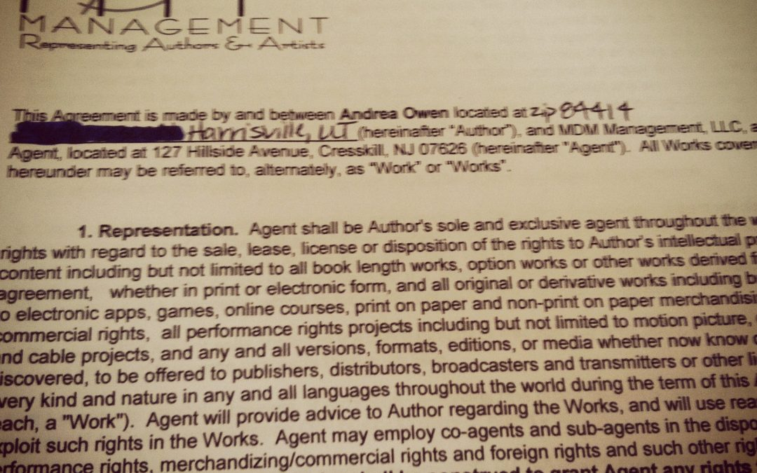 Book Blog #10: I Have an Agent!